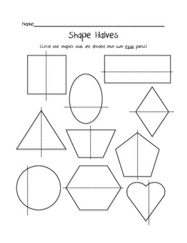 Shape Halves Freebie