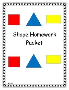 Shape Homework Packet