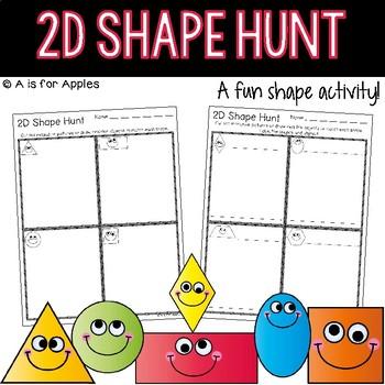 2D Shape Hunt {FREEBIE}