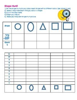 Shape Hunt Activity and Homework
