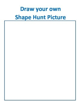 Shape Hunt Activity and Homework