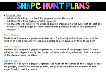Shape Hunt- Differentiated