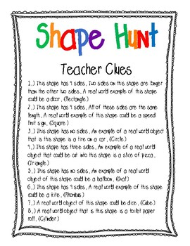 Shape Hunt: Finding Shapes in the Real World