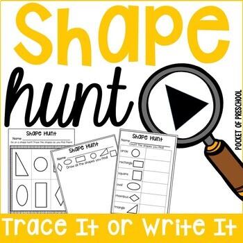 Shape Hunt for Preschool, Pre-K, and Kindergarten