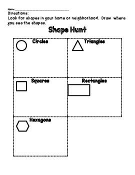 Shape Hunt Homework