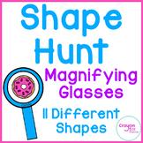 Shape Hunt Magnifying Glasses 2D Shapes Distance Learning