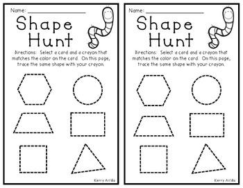 Shape Hunt Math Centers