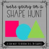 Shape Hunt Math Review - Editable!