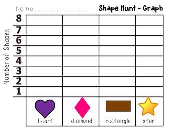 Shape Hunt and Write the Room English