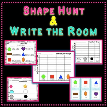 Shape Hunt and Write the Room English