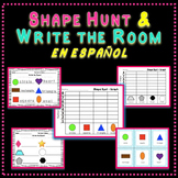 Shape Hunt and Write the Room Spanish