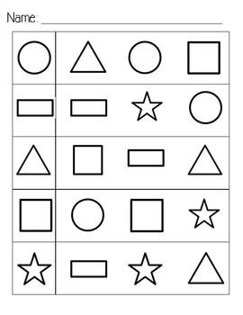 Shape ID worksheet