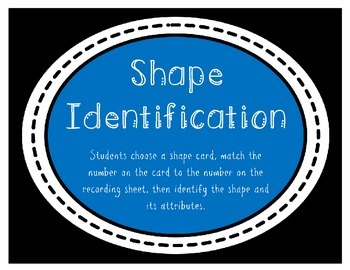 Shape Identification Activity (2.G.1)