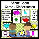Shape Identification Boom Game - Kindergarten