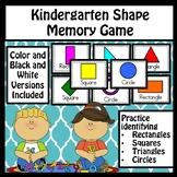 Shape Identification Memory Game - Kindergarten