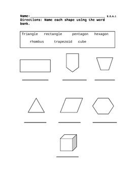 Shape Identification Quiz