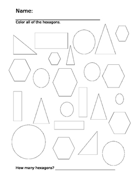 Shape Identification Worksheet