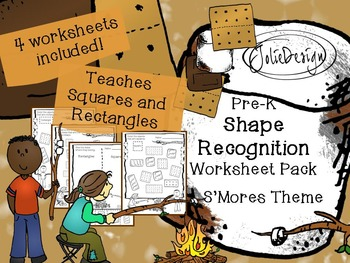 Shape Identification Worksheet - Smores Themed PreK Worksheet
