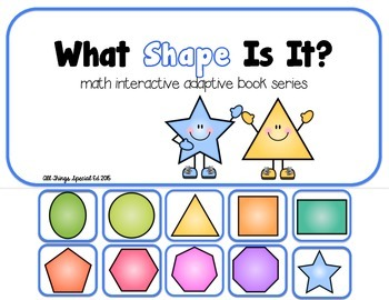 """Shape Interactive Adapted math book series """"What Shape"""" and """"Name that Shape"""""""