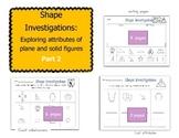Shape Investigations Part 2: Exploring Defining Attributes of Shapes