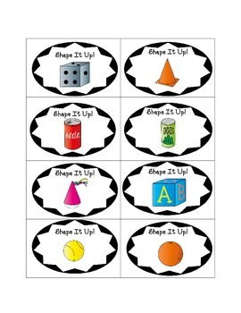 Shape It Up!  Kindergarten Common Core Aligned Geometry Game! Differentiated!!