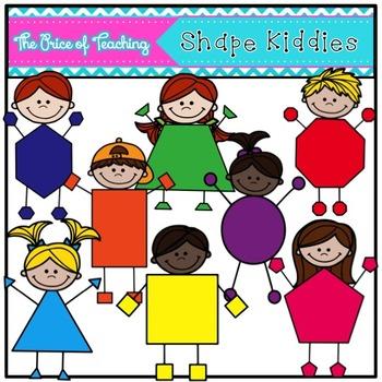 Shape Kiddies Clipart Set