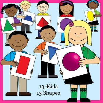 Shape Kids Clip Art