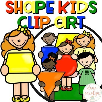 Shape Kids Clip Art {Personal and Commercial Use}