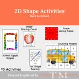 Shape Lacing Cards: Shape Activity