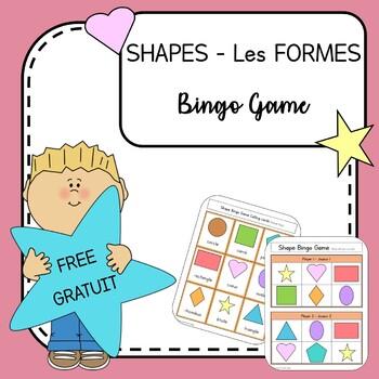 Shapes -  Les Formes BINGO ( Bilingual English & French)