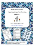 Shape, Location and Transformation Math Center Activities