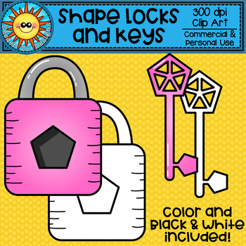 Shape Lock and Key Clip Art