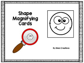 Shape Magnifying Glass Cards