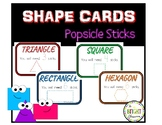 Shape Making Cards with Popsicle Sticks