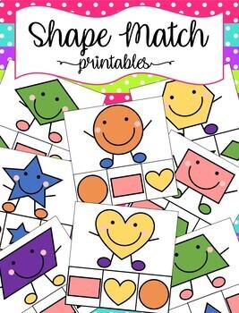 Shape Match Clothespin Activity