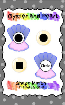 Shape Match - File Folder Game - Oyster and Pearl