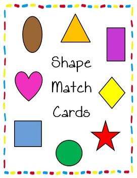 Shape Match Puzzle Cards