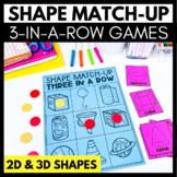 Shape Match-Up - 3 in a Row Games - 2D & 3D - Kindergarten