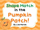Shape Match in the Pumpkin Patch for Preschool