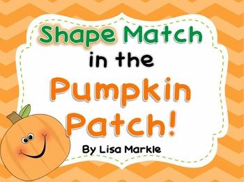 Shape Match in the Pumpkin Patch for Preschool