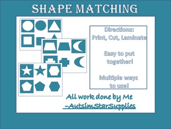 Shape Matching for Autism and special needs
