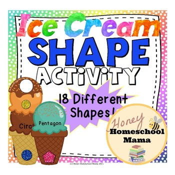 Shape Matching Activity With Cool Ice Cream Cone Theme