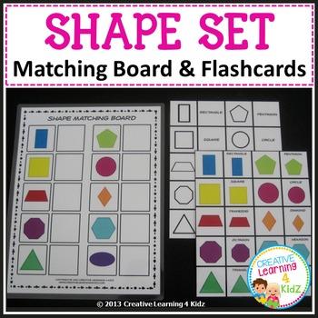 Shape Matching Board & Flashcards