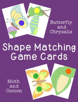Shape Matching Cards Games Activities PDF Printable Butter