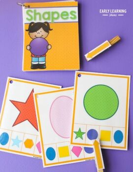 Shape Matching Clip Cards