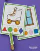 Shape Matching Activity Clip Cards