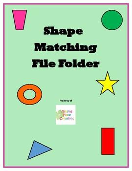 Shape Matching File Folder