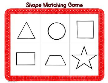 Special Education- Kindergarten- Math- Shape Matching Game