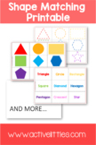 Shape Matching Printable FREEBIE - Active Littles