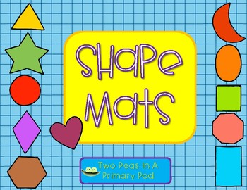 Shape Mats - perfect for Play-Doh and Target Mini-Erasers